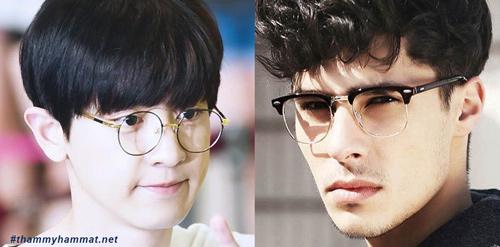 Con trai mặt gầy đeo kính gì