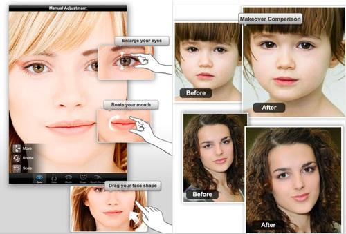 phần mềm chỉnh sửa khuôn mặt trên iphone