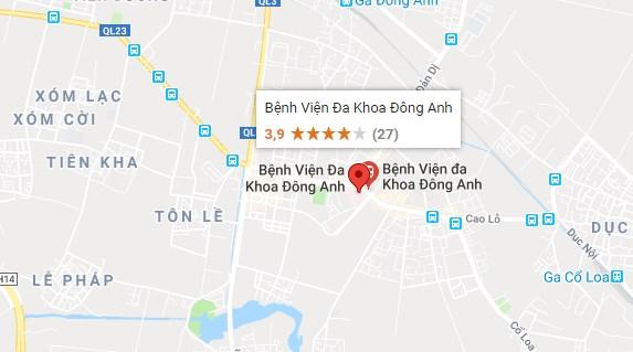 địa chỉ bệnh viện đông anh Hà Nội