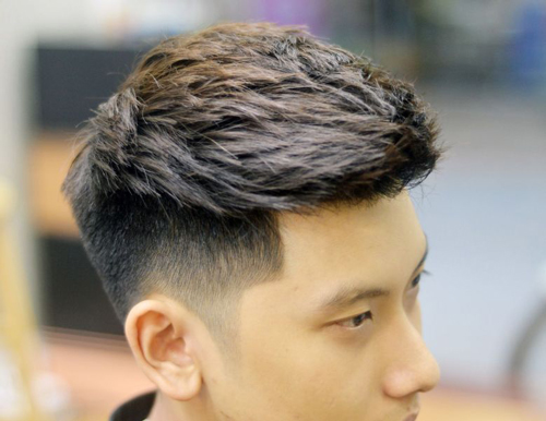 kiểu tóc sport cho nam mặt tròn